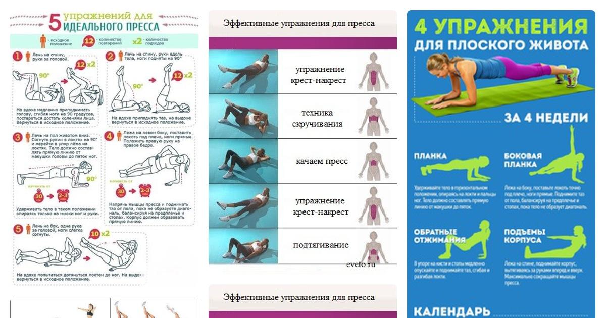 Простые эффективные упражнения для похудения