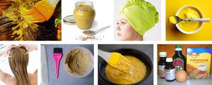 Горчица и йогурт для волос
