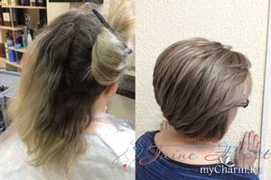 Бесцветное тонирование волос