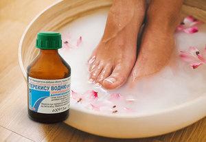 Ванночка для ног с перекисью водорода