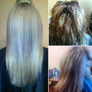 Как ухаживать за волосами после осветления