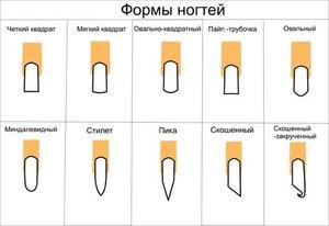 Как сделать форму ногтей заостренных 52